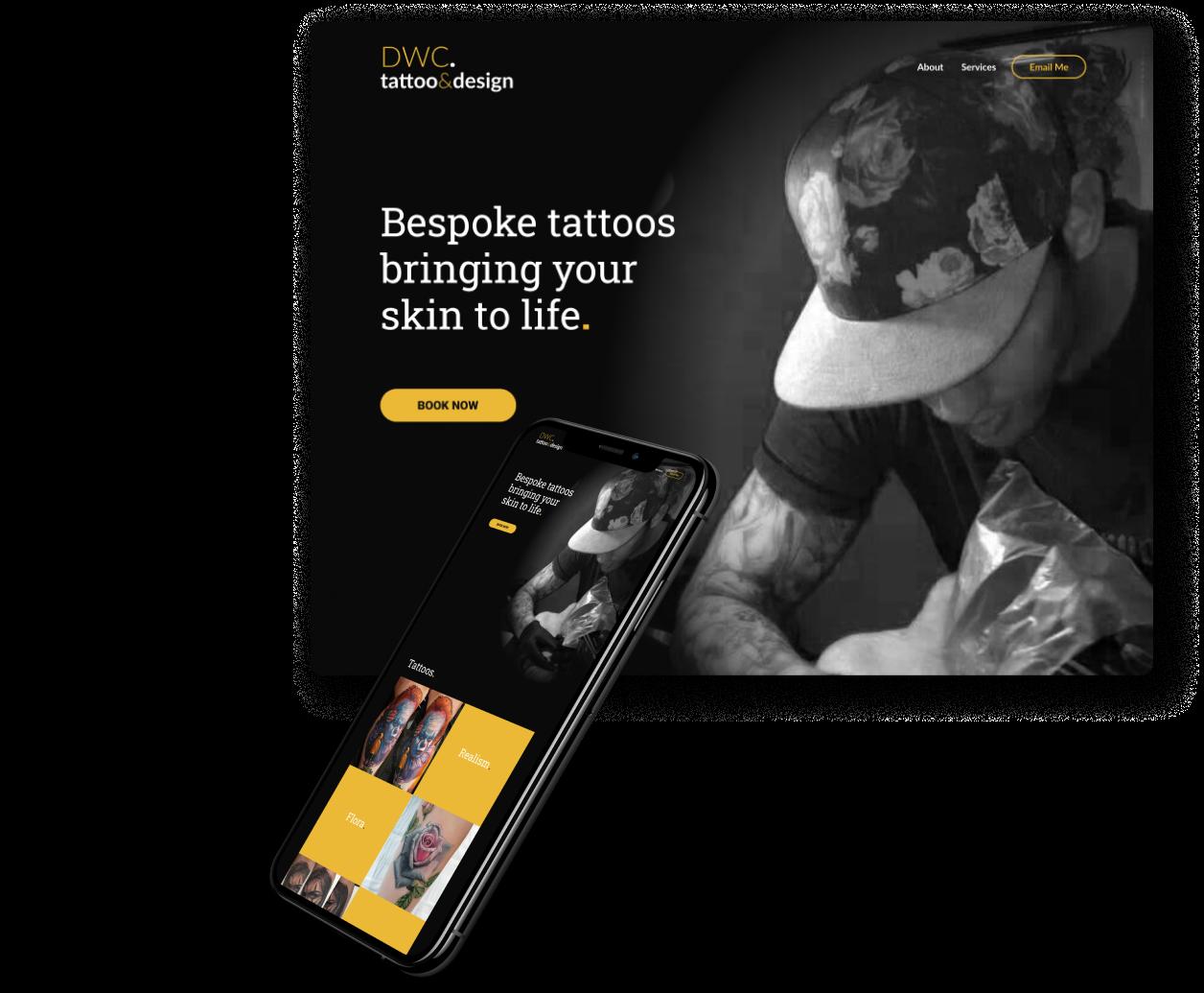 Sean Clayton design portfolio DWC tattoo