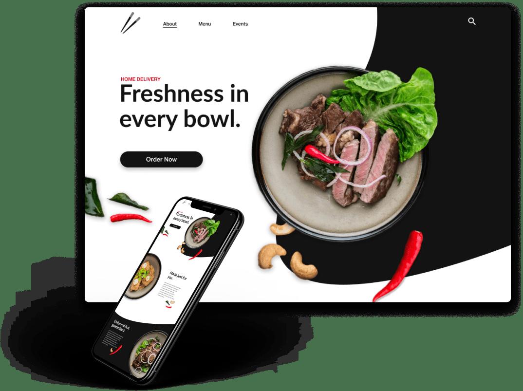 Sean Clayton Design restaurant website